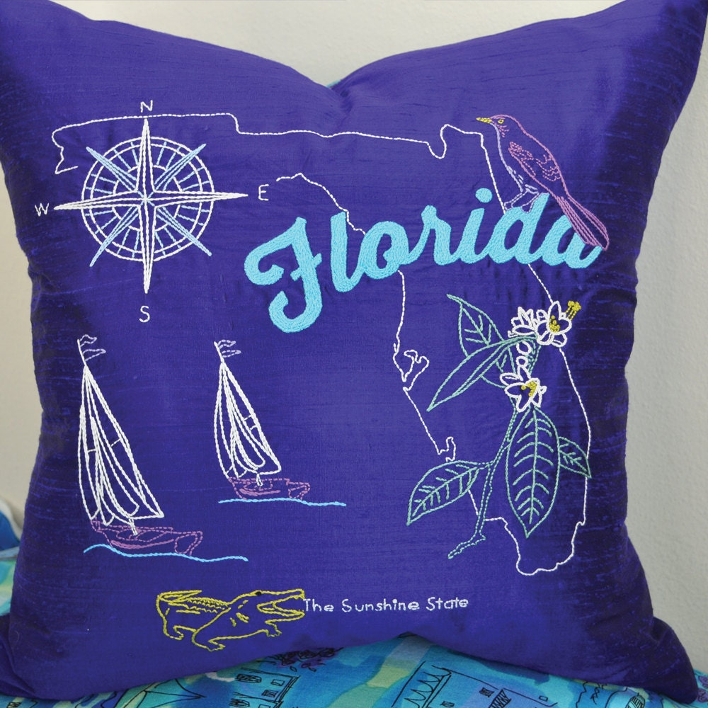 Florida hand embroidery pattern iron on transfer state