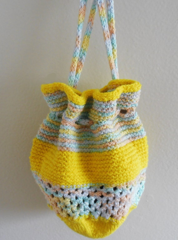 Knitting Pattern For A String Bag : Knitting pattern for Drawstring Bag from CraftStruck on ...
