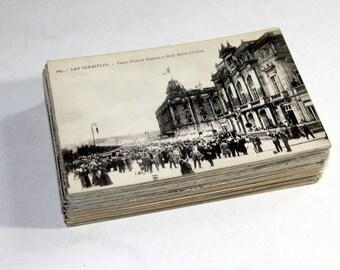 SALE 100 Vintage Spain Black and White Postcards