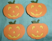 Jack O Lantern Die Cuts  x 6 for Scrapbooking Cards and Paper Crafts Halloween Pumpkin Embellishment Card Topper