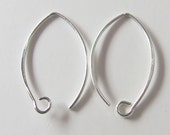 6 pairs of 925 Sterling Silver Ear Wires 10x23 mm. 21 AWG :th1039