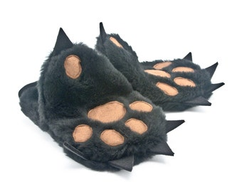Pot holders  - Kitchen mitts set in a Funny Form of Teddy Bear Paw- Baking Gloves set of two