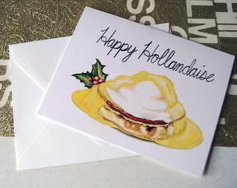 HAPPY HOLLANDAISE - Christmas Card - Holiday Card - Hanukkah Card