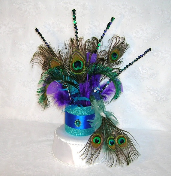 Peacock Feather Wedding Cake: Reserved For Jamie Peacock Wedding Cake Topper By Sljbridal