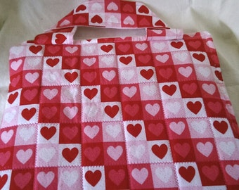 hearts quilt large travel tote designed for ipad nook hd+ kindle fire hdx