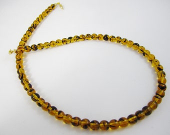 Shop CLOSING SALE, Golden Honey Tortoise Interchangeable Multi Strand Necklace Czech glass faceted gold and black detachable multi wear