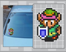 LINK Sprite from the Legend of Zelda A Link to the Past No. 1 16Bit Vinyl Decal Video Game Sticker Laptop Car Window Decal