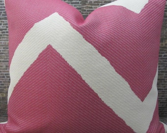 Designer Pillow Cover 18 x 18, 20 x 20 - Chevron Waylon Fushia