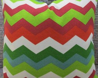 SALE Designer Pillow Cover - Lumbar, 16 x 16, 18 x 18, 20 x 20, 22 x 22 - Outdoor Panama Wave Jewel