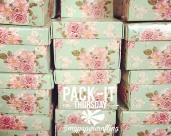 DIY Mint Floral Favor Wedding Box // Wedding Favor Box // Packaging Box