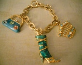 Beautiful Purse Jewelry - A Boot A Crown and A Purse - A Little Hipster Bling for the Bag or Yourself