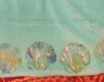 scallop shell printed beach cover, M