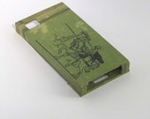 iPhone 4 Case, made with recycled book cloth