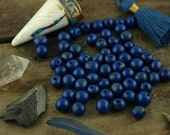Berry Blue : Real, Natural Acai Beads, South American Eco-Beads, 10mm, 100 beads, Fresh Navy, Round, Large Hole Jewelry Making Supply