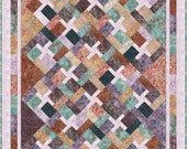 Quilt Pattern - INSTANT DOWNLOAD PDF - Tequila Sunrise - Fat Quarter Quilt - Super Easy -