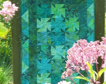 Quilt Pattern - Well Springs with Bonus Pattern made from the Scraps! PDF INSTANT DOWNLOAD