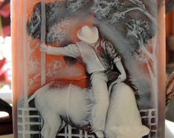 BULL RIDER SOAP, Riding the Bull Soap Cowboy Soap Rodeo Soap, Handmade, Vegetable Based, Scented in Bay Rum For Him