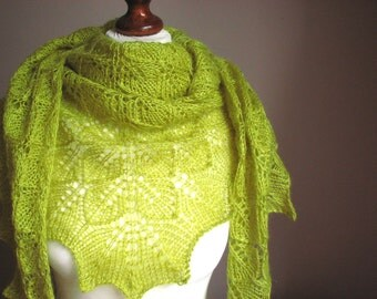 Spring Tree - hand knitted shawl