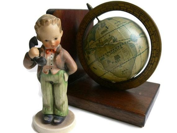 "Vintage Hummel Figurine - ""Hello Boy"" - Telephone Boy - Chef Hello #124/0"