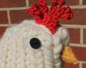 Knit Chicken in Nest Hat M or L
