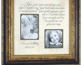 Personalized Wedding Frame Mother of the Bride Gift, Mom Gift, Personalized Mom Frame Bride Groom 16 X 16