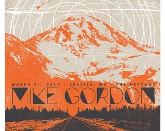 Mike Gordon Concert Poster, Seattle, WA