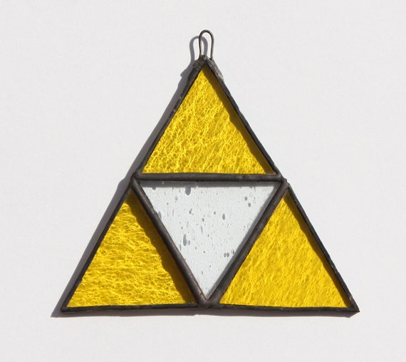 Triforce Stained Glass, Nintendo Stained Glass, Zelda Stained Glass