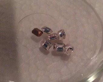 Vintage Crystal Octagon Rhinestones 6x4mm QTY - 2 ALMOST GONE