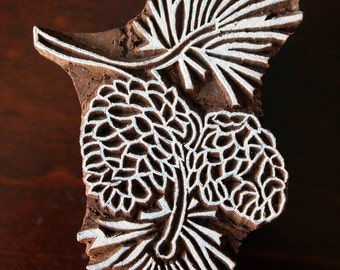 Pottery Stamps, Indian Wood Stamp, Textile Stamp, Wood Blocks, Tjaps, Printing Stamp- Pine