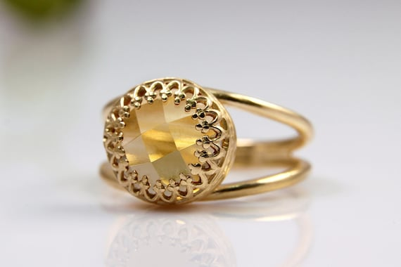20% OFF - Citrine ring,gold ring,gemstone ring,yellow ring,Citrine jewelry,bridal ring,wedding ring,delicate ring