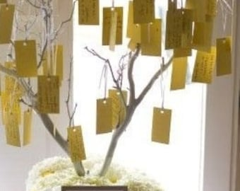 Customized Wedding Wish Tree Tags Special Order 10pk Advice Humor Reception Games