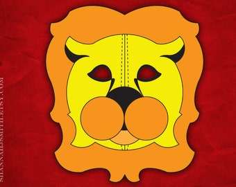 Print Your Own Lion Mask Digital File
