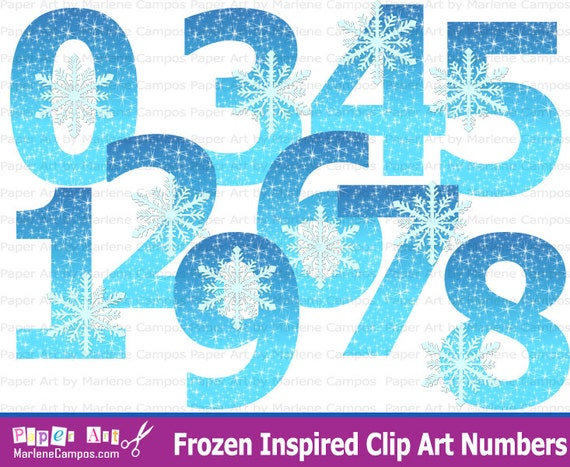 Frozen Clip art Numbers Frozen birthday Frozen Party Frozen