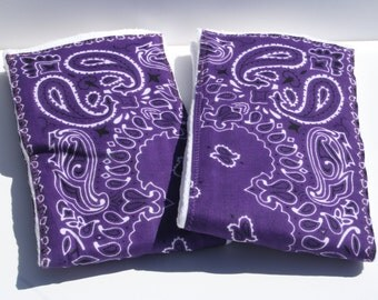 Burp Cloth/Burp Rag Baby Cotton Diaper Purple Bandana (1)