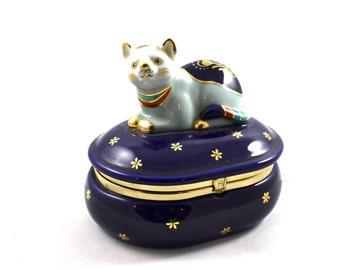 Kitty Keepsake Porcelain Box