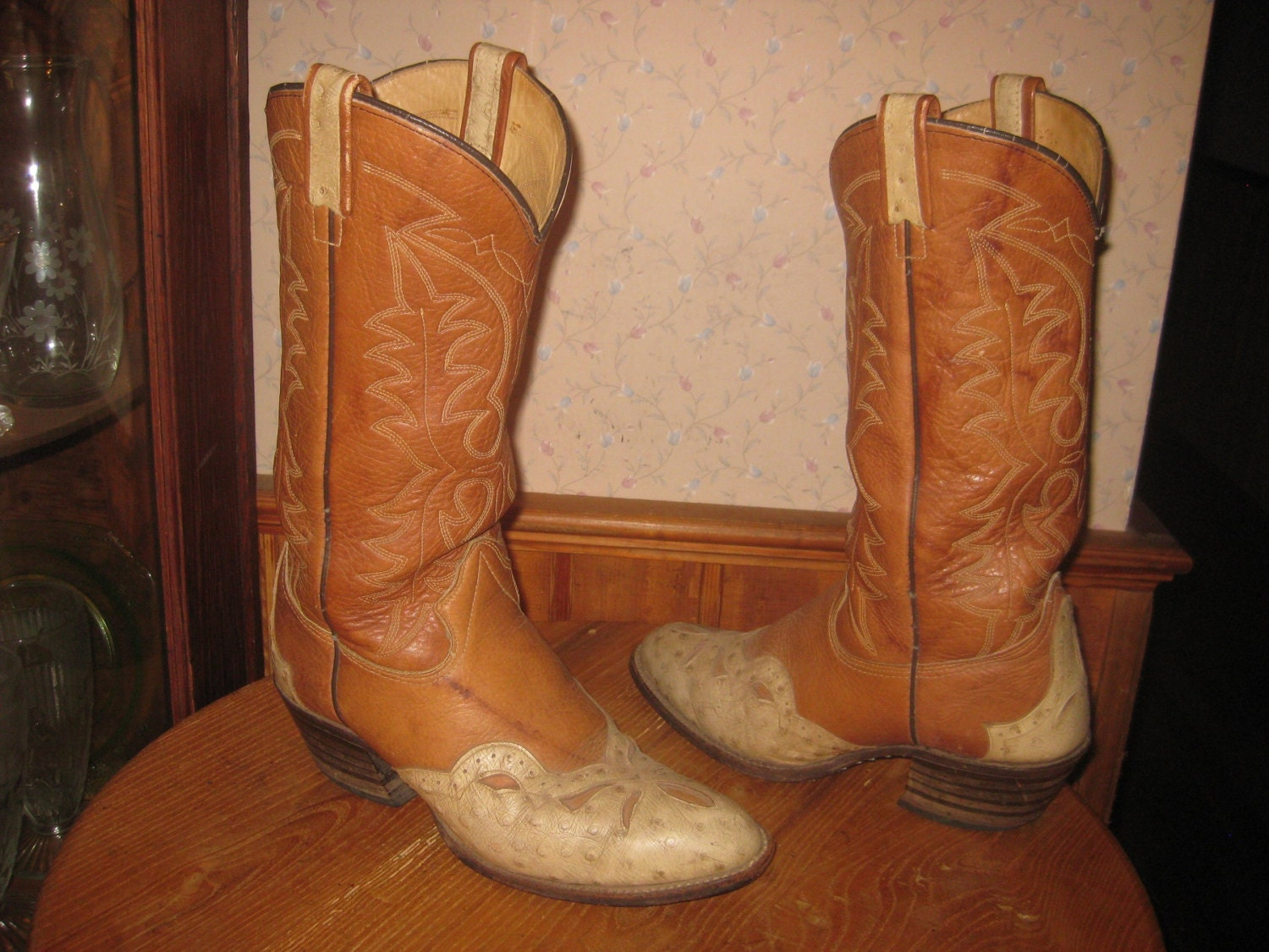 Cowboy Boot Makers ~ Texas cowboy boots made in usa leather embossed ostrich
