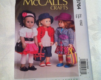 McCall's Pattern 6764 New Release, Uncut for 18 Inch Dolls