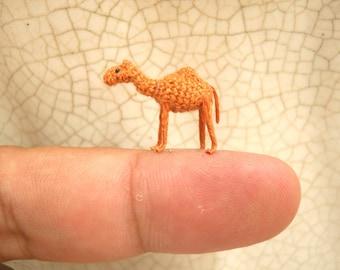 Micro Mini Camel Amigurumi - 1/2 Inch Miniature Crochet Stuffed Animals - Made To Order