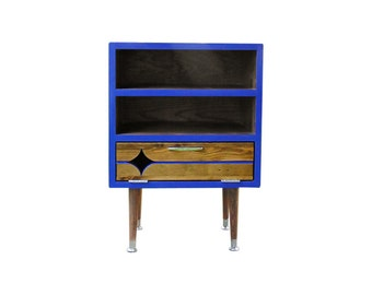 Mid Century Inspired Starburst Nightstand - MADE TO ORDER