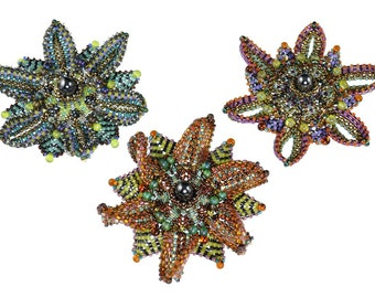 "The ""Floral Brooch"" Beading Kit (inspired by www.ContemporaryGeometricBeadwork.com)"