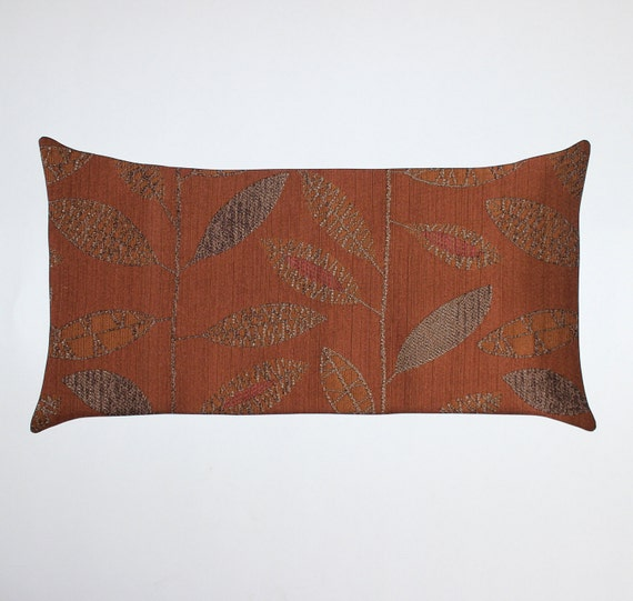 12x21 Lumbar Rust Pillow Cover Decorative Pillow Throw