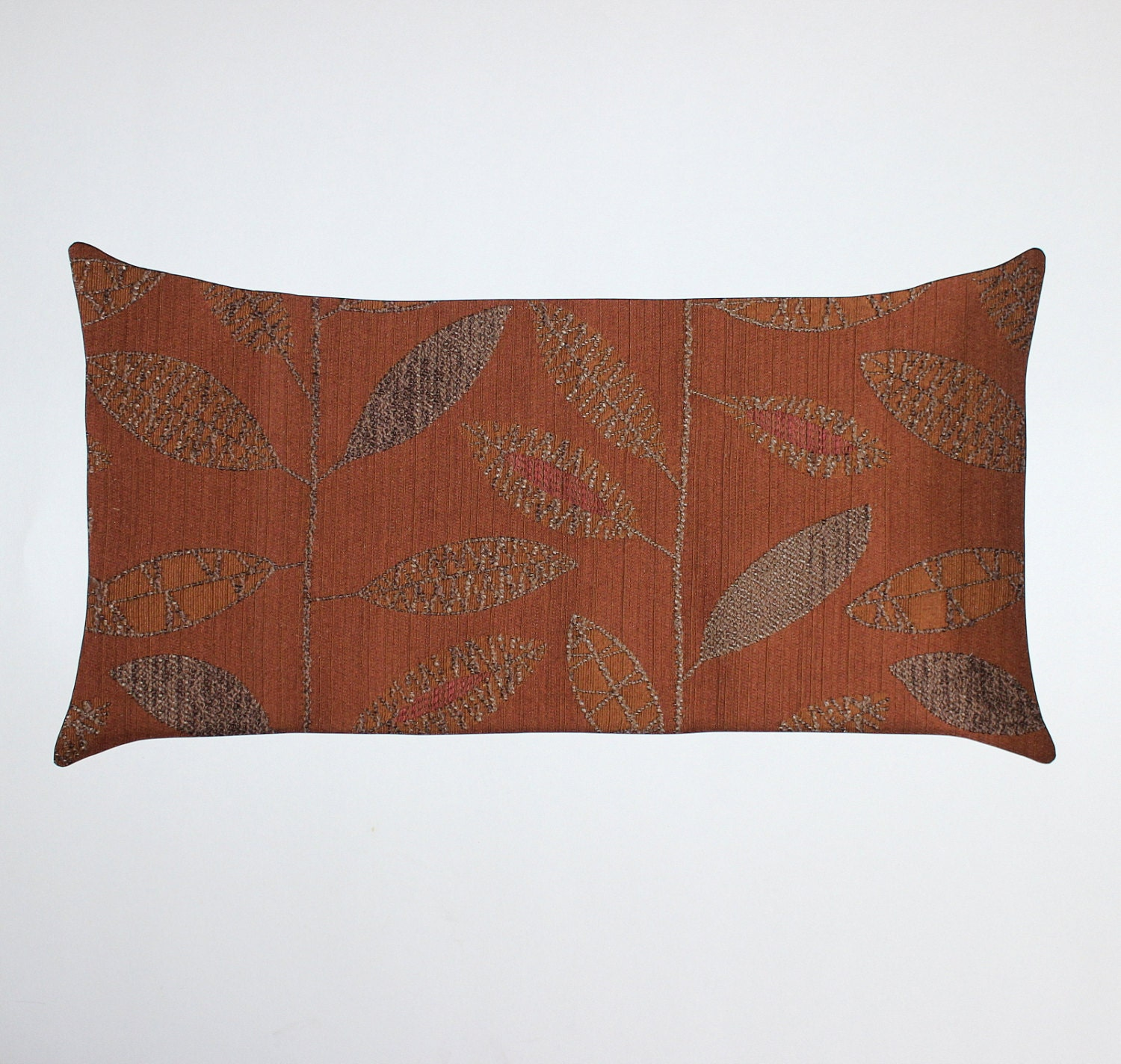 12x21 Lumbar Rust Pillow Cover Decorative by couchdwellers