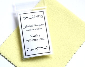 Jewelry Cleaning Polishing Cloth - Tarnish Remover - Cleans and Polishes Silver Gold Brass Copper Jewelry