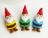 Miniature Gnome  ~ Terrarium Accessory ~ Decorate your Terrarium or Miniature Garden with these cute gnomes - Crafting supply ~ Button
