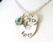 Personalized Zeta Tau Alpha Necklace - Official Licensed Product