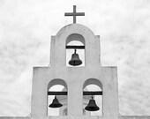 "8"" x 8"" Old Mission Cross, Steeple, Bells, Historic, Arizona, Southwest, Fine Art Photography by Glennis Siverson"