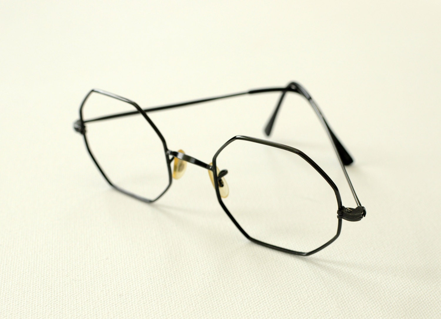 Wire Frame Glasses Vintage : vintage wire frame glasses metal eyeglasses gunmetal gray