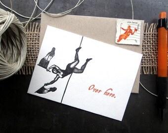 309 : Sorry Letterpress Card, sympathy card, sorry card, sorry funny card, sorry humorous card, funny sympathy card