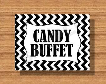 Chevron Wedding Candy Buffet Sign DIY Print Ready