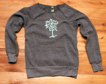SALE Tree Sweatshirt, super soft, S